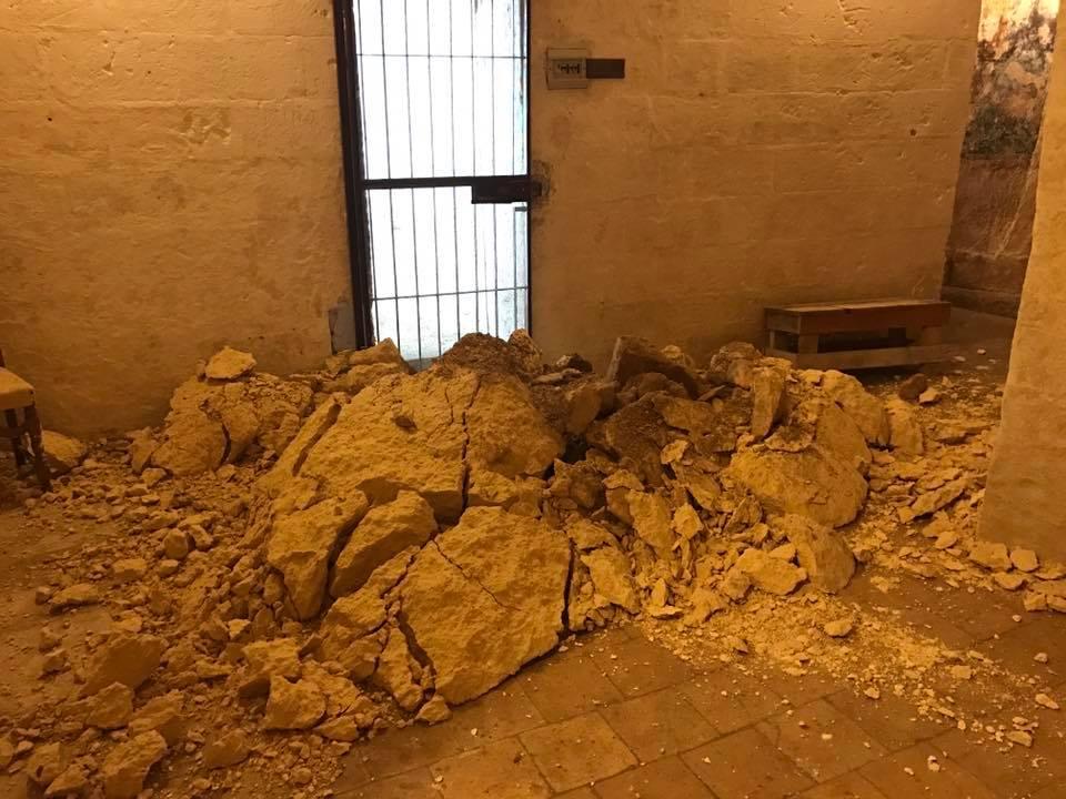 Distacco Roccioso nella Cripta Madonna della Buona Nuova